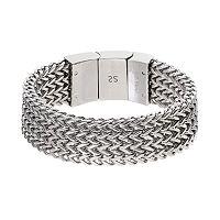 FOCUS FOR MEN Stainless Steel Wheat Chain Bracelet