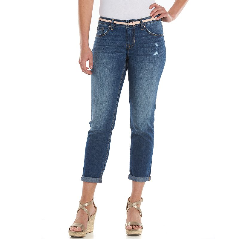 Women's Apt. 9® Slim Fit Cuffed Capri Jeans