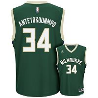 adidas Men's Milwaukee Bucks Giannis Antetokounmpo Replica Jersey