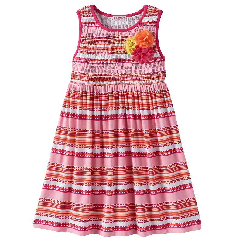 Design 365 Girls 4-6x Striped Smocked Dress