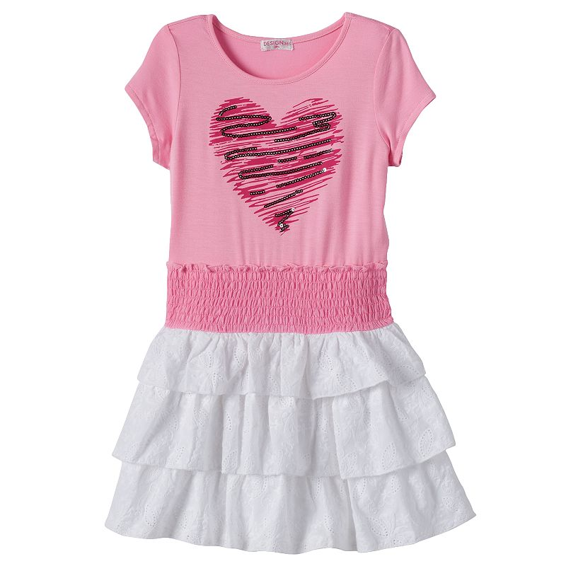 Design 365 Girls 4-6x Sequin Heart Dress
