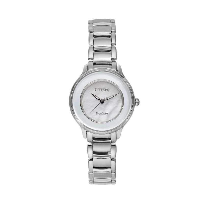 Citizen Eco-Drive Women's Circle of Time Stainless Steel Watch - EM0380-81D, Grey thumbnail