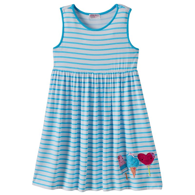 Design 365 Girls 4-6x Striped Empire Dress