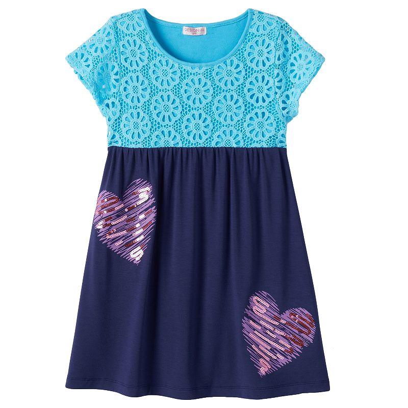 Design 365 Toddler Girl Crochet Lace Dress