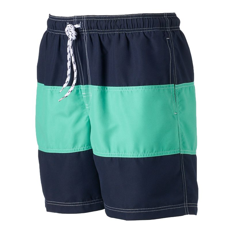 Men's Croft & Barrow® Colorblock Swim Trunks