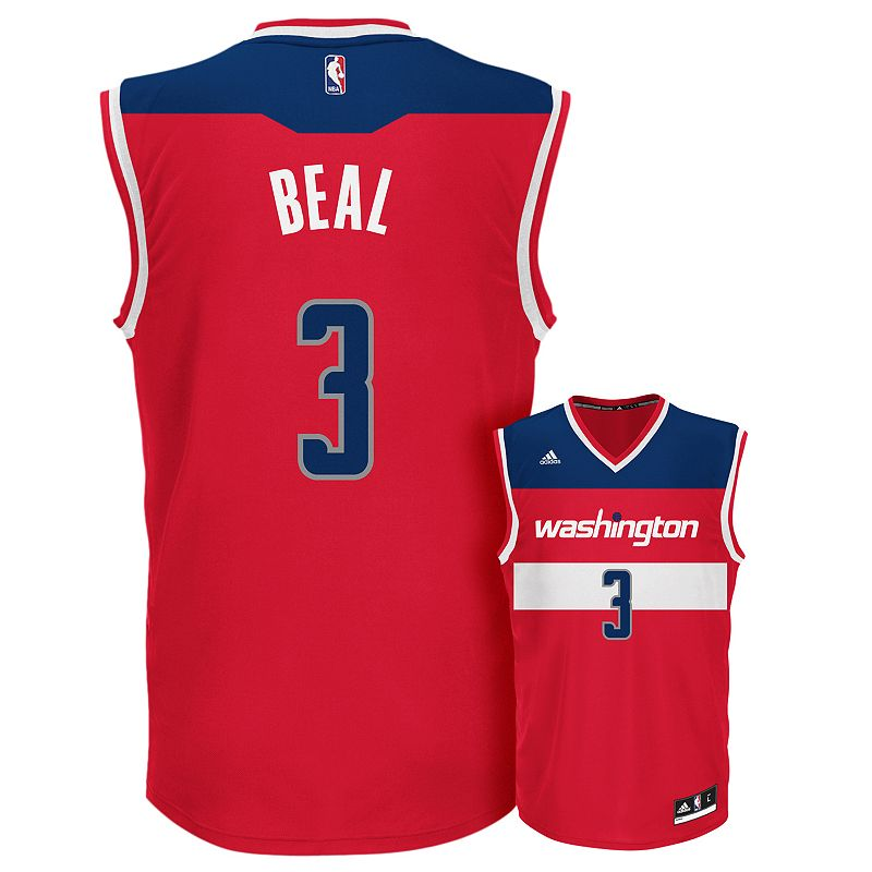 adidas Men's Washington Wizards Bradley Beal Replica Jersey