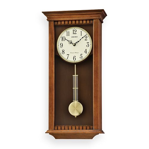 Seiko Wood Pendulum Wall Clock Qxh064blh