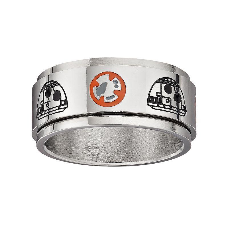 Star Wars: Episode VII The Force Awakens Men's BB-8 Stainless Steel Spinner Ring