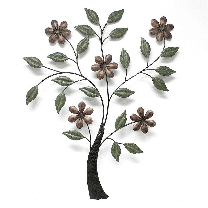 Fetco Home Decor Einar Flower Tree Wall Decor