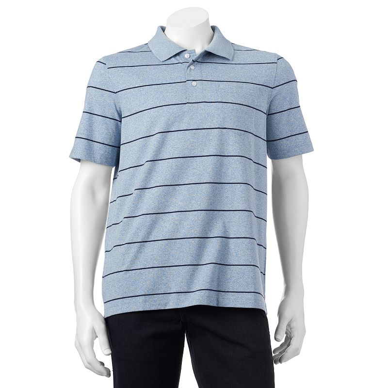 Big & Tall Croft & Barrow® Classic-Fit Easy-Care Striped Polo