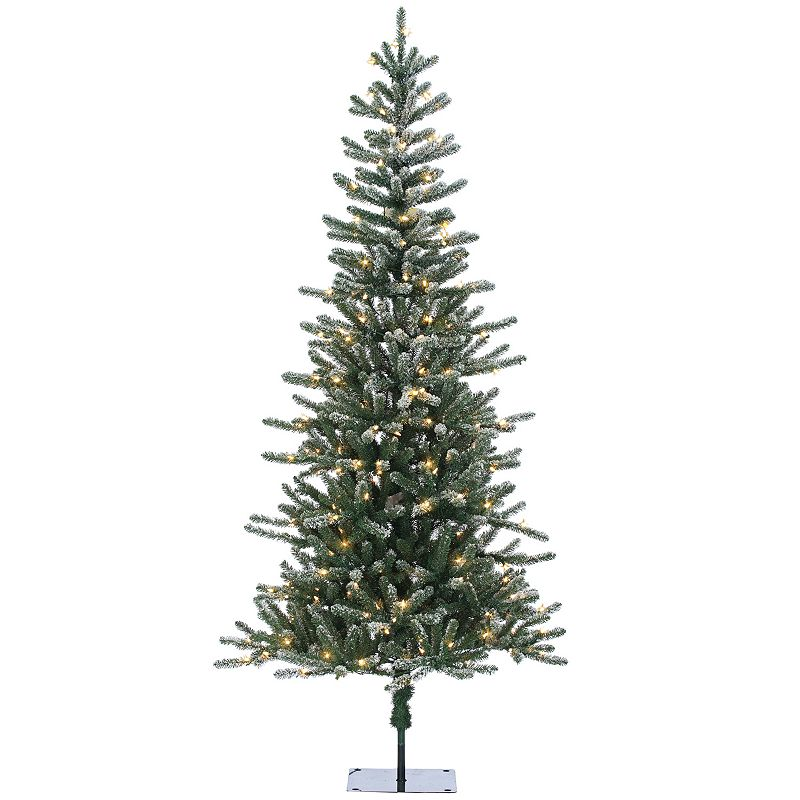 Sterling 7' Lightly Flocked Bridgeport Pine Artificial Christmas Tree