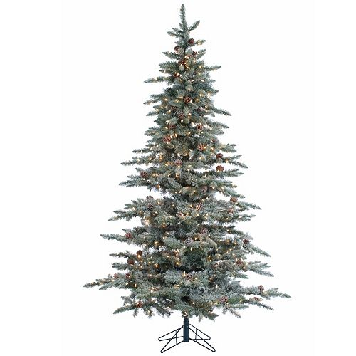 sterling 7 5 39 lightly flocked mckinley pine artificial christmas tree. Black Bedroom Furniture Sets. Home Design Ideas