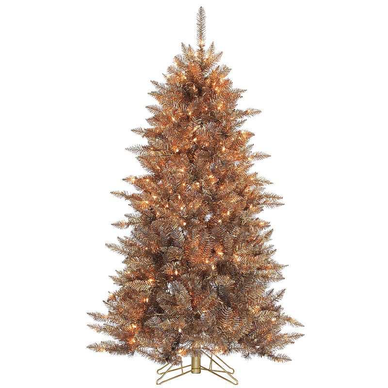 Sterling 5' Layered Copper and Silver Frasier Fir Artificial Christmas Tree