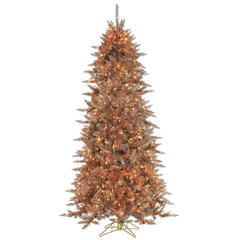 Sterling 7.5' Layered Copper and Silver Frasier Fir Artificial Christmas Tree