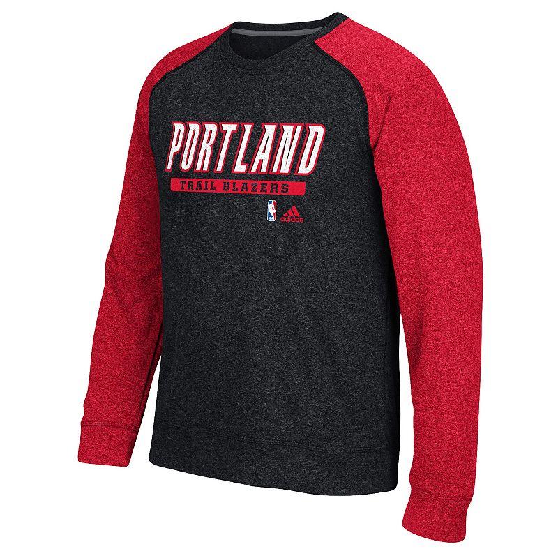 adidas Men's Portland Trail Blazers Cut & Paste climawarm Fleece