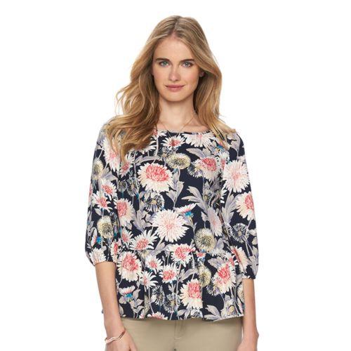 Women's LC Lauren Conrad Floral Babydoll Top