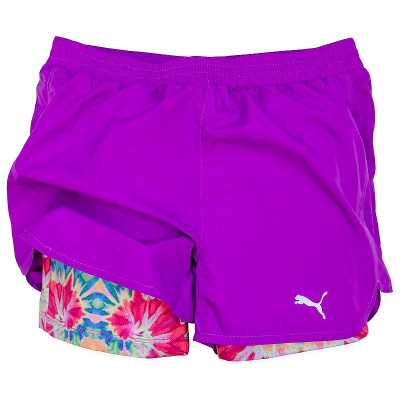 Girls 7-16 PUMA Lined Swirl Running Shorts