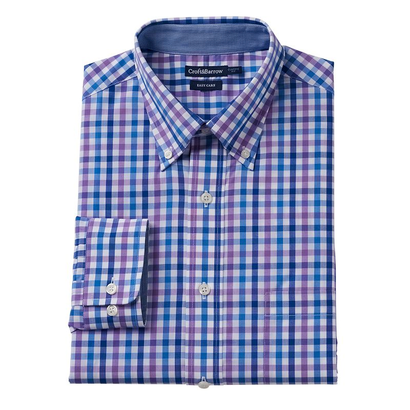 Men's Croft & Barrow® Classic-Fit Patterned Easy-Care Dress Shirt