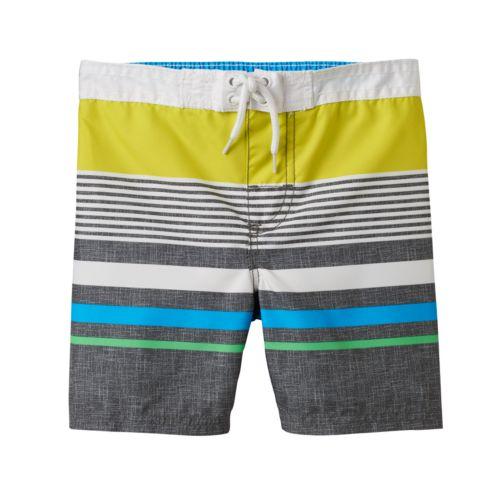 Toddler Boy OshKosh B'gosh® Two-Tone Striped Swim Trunks