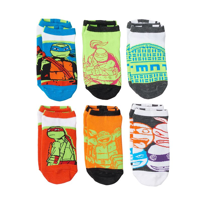 Boys Teenage Mutant Ninja Turtles 6-Pack Socks
