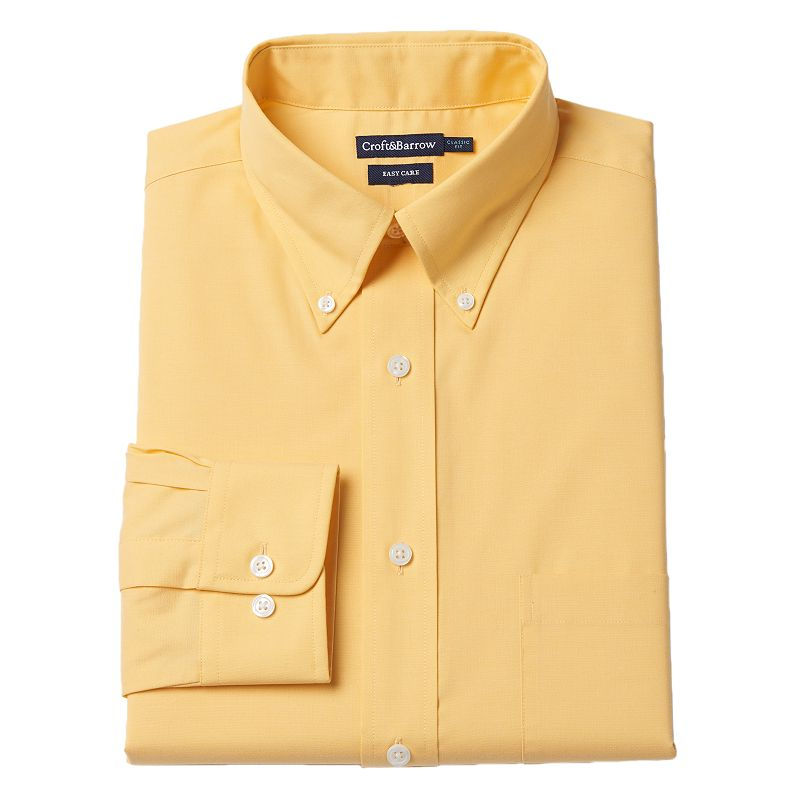 Men's Croft & Barrow® Classic-Fit Oxford Easy-Care Dress Shirt