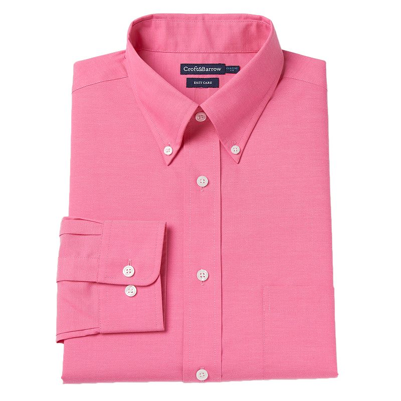 Men's Croft & Barrow® Classic-Fit Oxford Easy-Care Dress Shirt