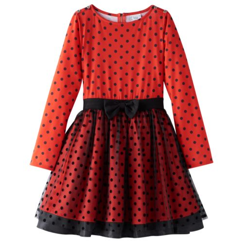 Disney D-Signed Girls 7-16 Minnie Mouse Polka Dot Dress