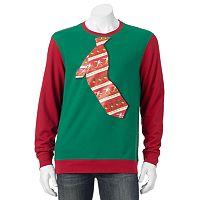 Men's Santa Tie Christmas Sweatshirt
