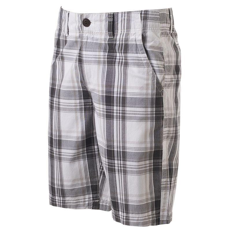 Men's Urban Pipeline® Plaid Flat-Front Shorts