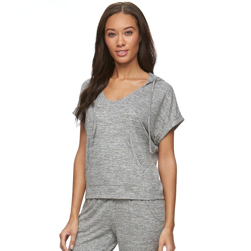 Women's bliss Breezy French Terry Hooded Lounge Tee