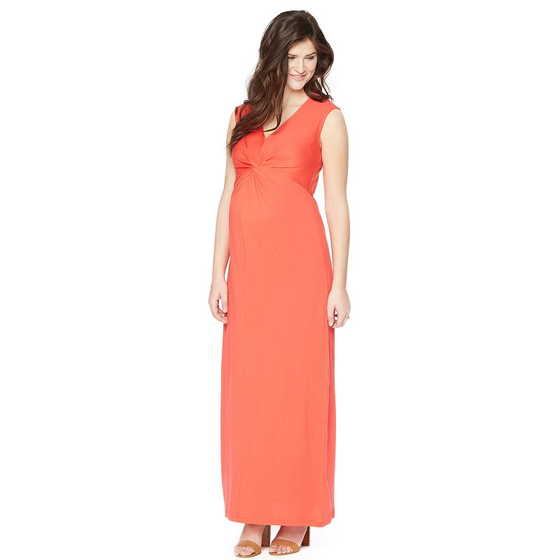 Maternity Oh Baby by Motherhood™ Knot-Front Maxi Dress