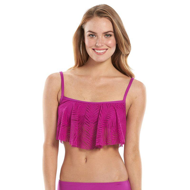 Women's Apt. 9® Flowing Places Crochet Flounce Bikini Top