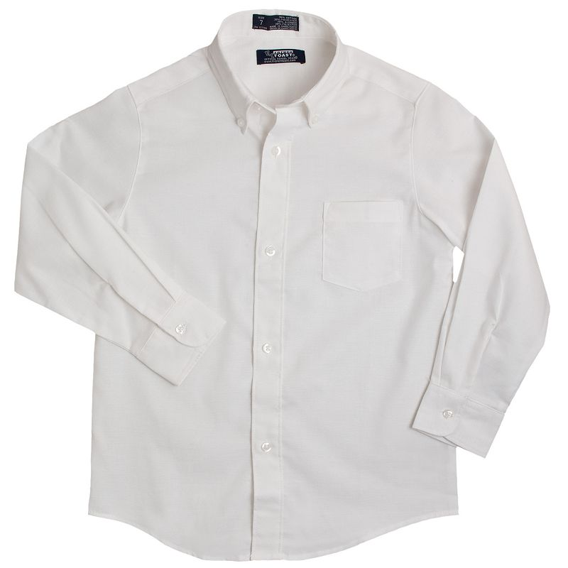 Toddler Boy French Toast Long Sleeve Oxford Button-Down Shirt