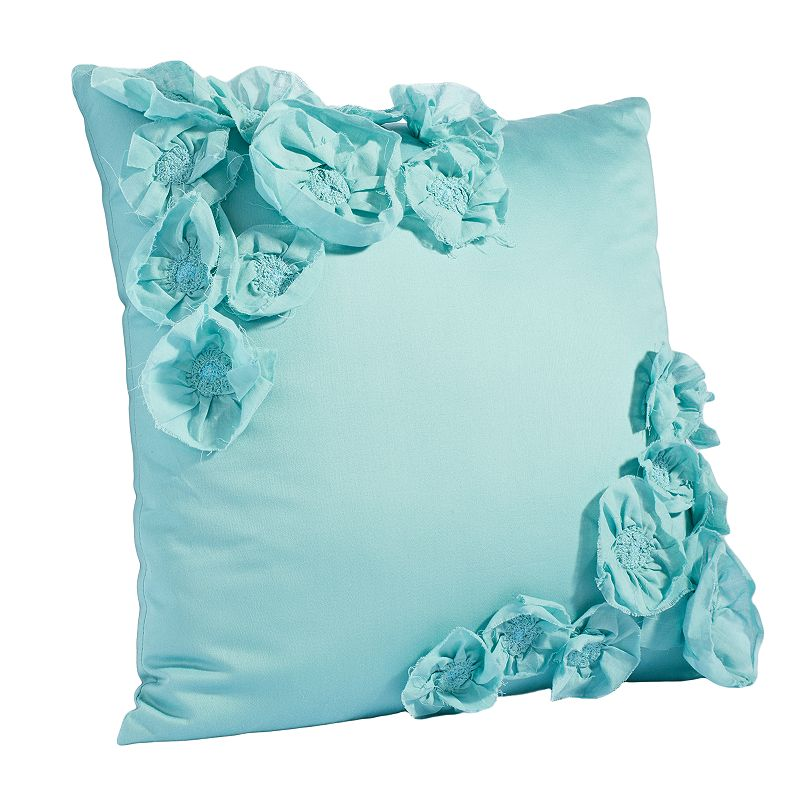 Simply Vera Vera Wang Intersect Floral Applique Throw Pillow