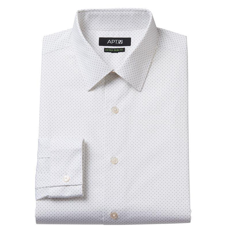 Men's Apt. 9® Extra Slim-Fit Dot Stretch Dress Shirt