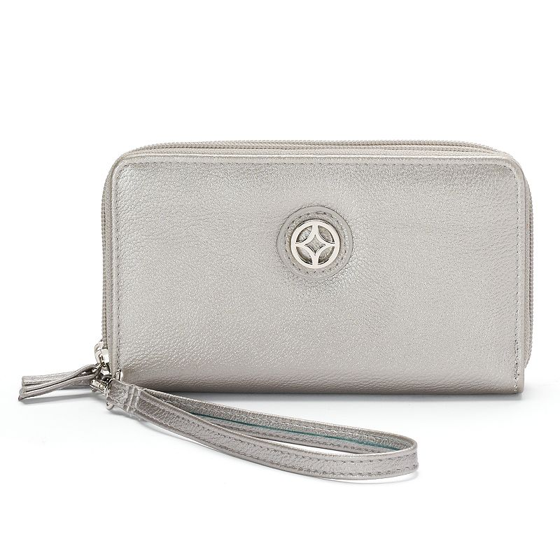Croft & Barrow® Gabriella Double Zip Wristlet