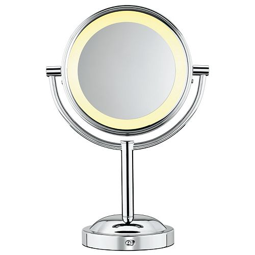 conair double sided lighted swivel vanity mirror. Black Bedroom Furniture Sets. Home Design Ideas