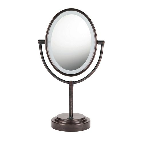 Lighted Vanity Mirror Conair : Conair Oval Double-Sided Lighted Vanity Mirror