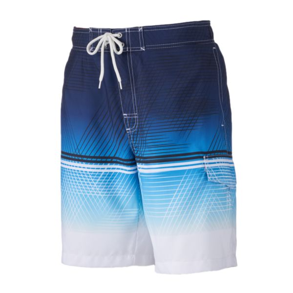 Big & Tall SONOMA Goods for Life™ Tonal Print Microfiber Swim Trunks