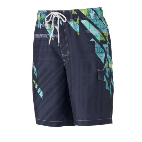 Big & Tall SONOMA Goods for Life™ Shattered Microfiber Swim Trunks