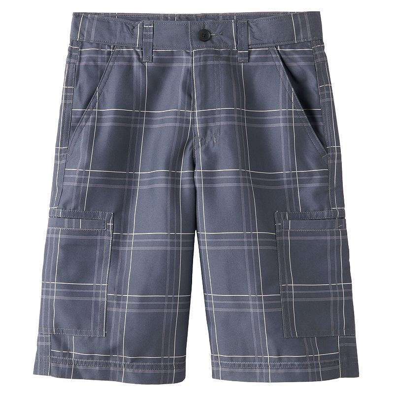 Boys 8-20 Tony Hawk® Plaid Microfiber Cargo Shorts