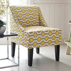 Charlotte Swoop Arm Accent Chair by