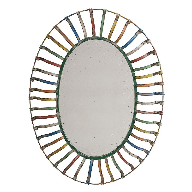 32'' Oval Multi-Color Wall Mirror
