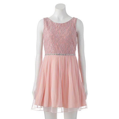 Juniors' Speechless Lace Dress
