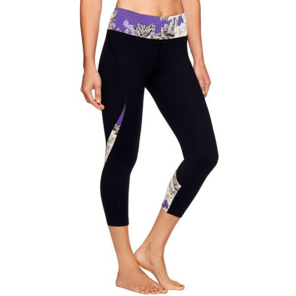 Women's Shape Active Pieced Glow-in-the-Dark Capri Running Leggings