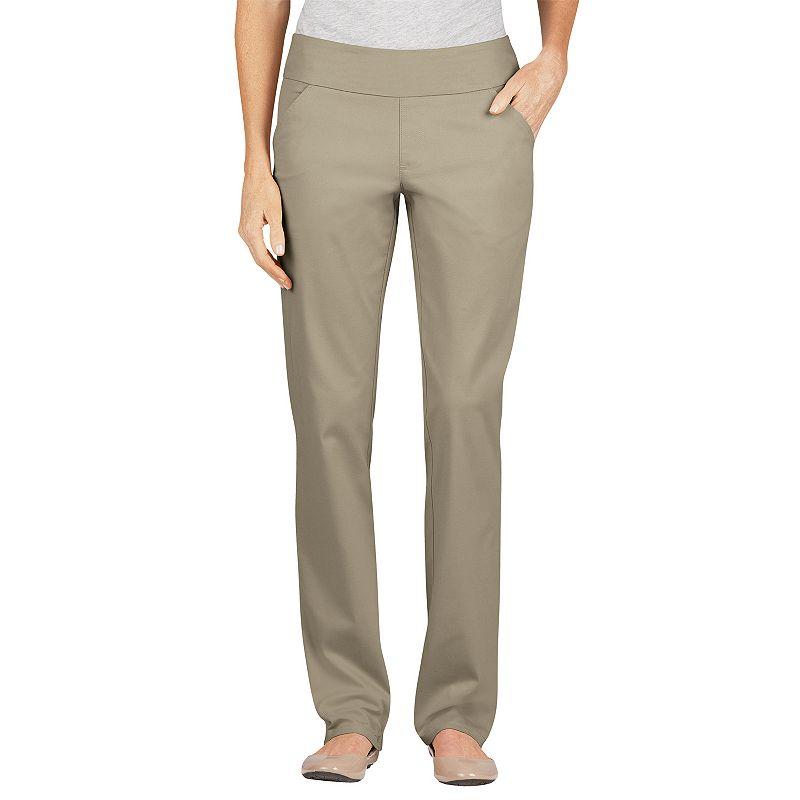 Dickies Modern Fit Straight-Leg Pull-On Twill Pants - Women's