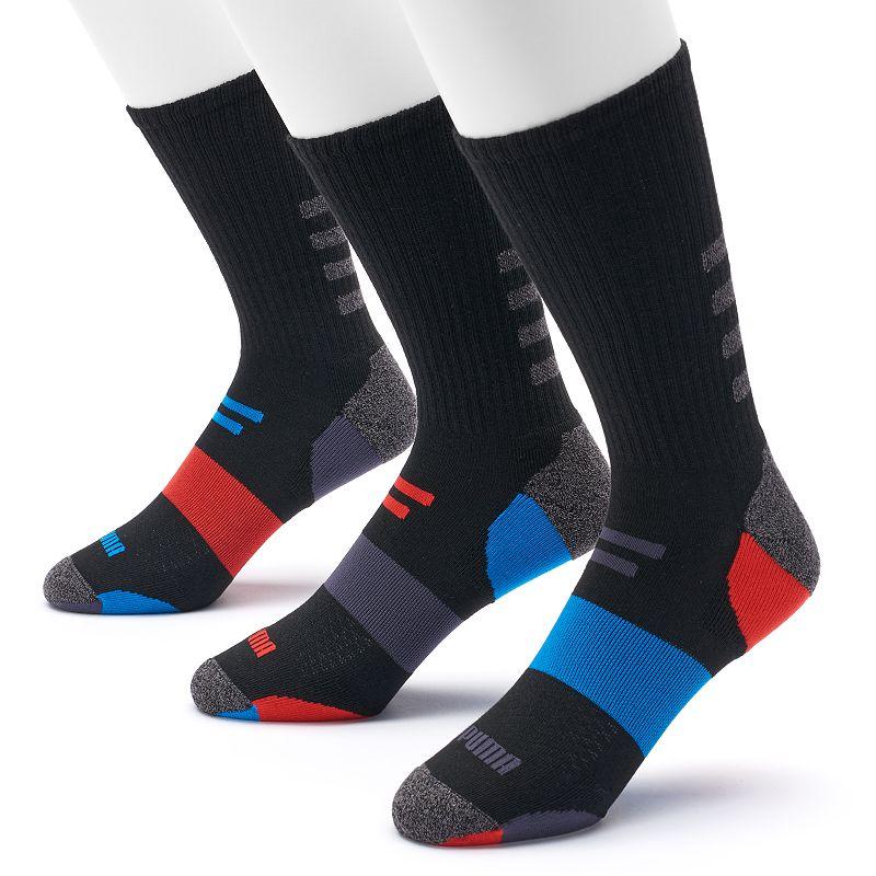 Men's PUMA 3-Pack Impact Crew Socks