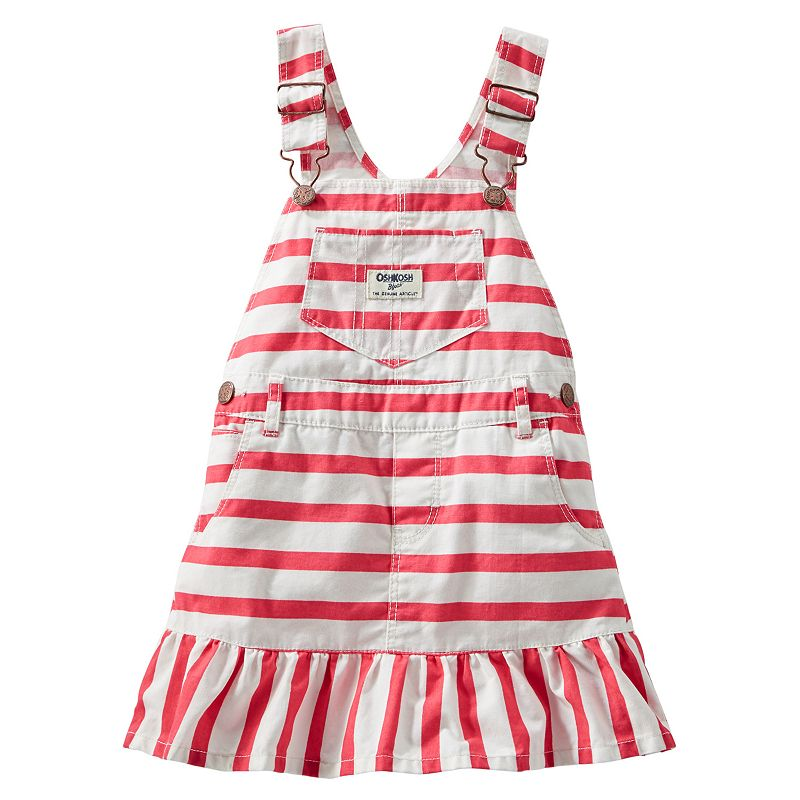 Baby Girl OshKosh B'gosh® Striped Ruffle Jumperall Dress