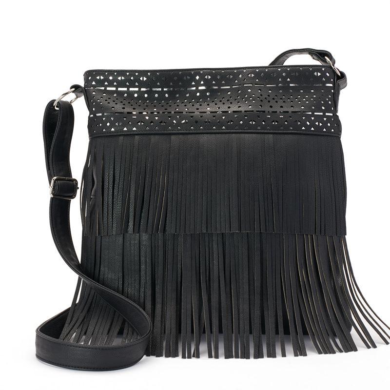 Candie's® Fringe Oversized Crossbody Bag