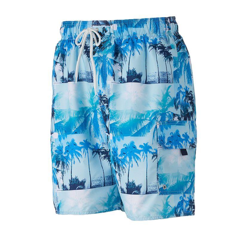 Big & Tall Croft & Barrow® Inner Palms Microfiber Swim Trunks